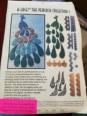 """K-Lace peacock collection I. 3.5"""" floppy. Unopened package"""
