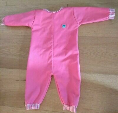 Splash About Warm In One Thermal Wetsuit Size L 6-12 Months pink