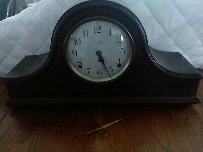Antique Seth Thomas mantle clock. No 89 movement working With key & pendulum