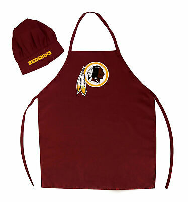 75b7a025e Washington Redskins Nfl Apron   Chef s Hat Set Barbecue Tailgating Cooking