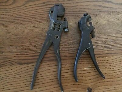Pair of Vintage crimping tools. Barn fresh. One large, one small.