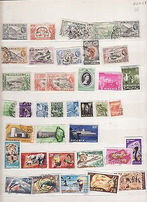 Nigeria - Qe Period 38 Used Stamps Values To 10/-