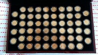 56 Gold Plated State Quarters Complete Set Boxed!