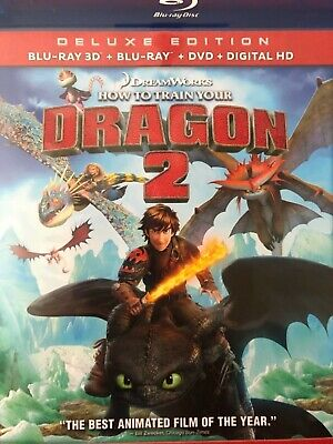 How To Train Your Dragon 2. Deluxe Edition. 3 disc set.Blu-Ray 3D/Blu-ray/DVD