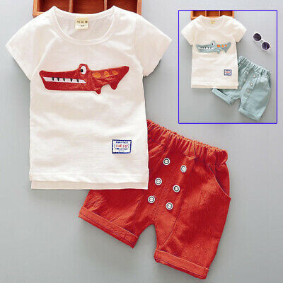 Baby outfit Cotton Blends Summer Casual Boys Spring Animal Print Toddler Soft