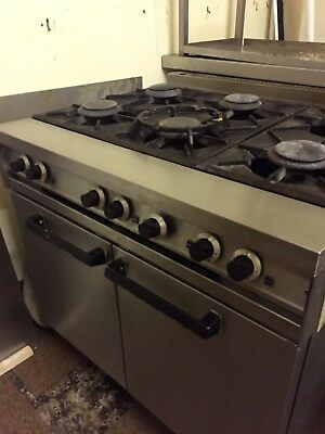 Commercial 6 burner Gas Cooker with Oven