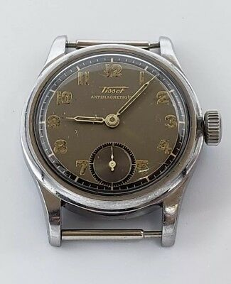 Rare 1945 Mens Tissot Antimagnetique Military Watch USA ORD 6072-2 Running