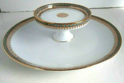 IMPERIAL CROWN China of AUSTRIA Two Tiered Serving Plate