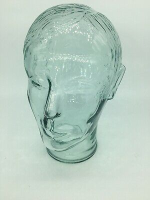 Vintage Glass Mannequin Head for Hats Caps Wigs Display young man, MALE