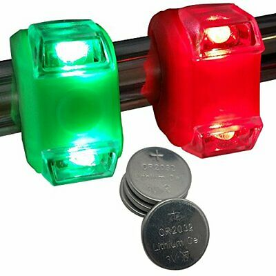 Waterproof Portable Green & Red Safety Boating Navigation LED Lights