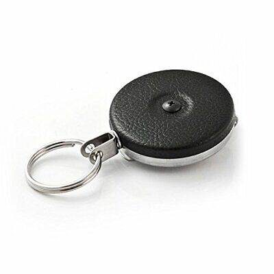 """Retractable Key Reel with Stainless Steel Spring and Kevlar & Chain Tether - 48"""""""