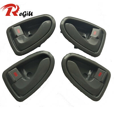 Fit 00-06 Hyundai ACCENT Inside GRAY Front Rear Left Right Side Door Handle 4Pcs