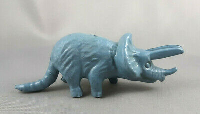 SRG Triceratops Rare Plastic Hong Kong Vintage 1960s Dinosaur Museum Figure
