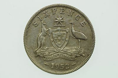 1952 Sixpence George VI in Very Fine Condition