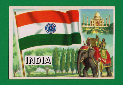 1956 Topps Flags Of The World #34 India    Ex-Mt