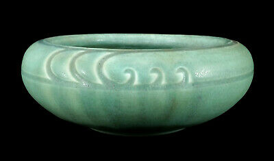 1910 Rookwood Incised Mat Matte Green Ohio Arts & Crafts Pottery Bowl Vase 957Dd