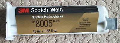 3M Scotch-Weld Black DP8005 Plastic adhesive NEW LOWER PRICE and nozzle