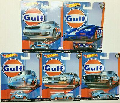 Hot Wheels 2019 Car Culture GULF RACING Complete Set of (5)