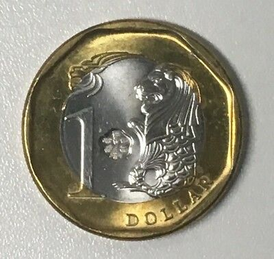 GOOD LUCK LOTTERY Coin Octagon Fengshui Singapore Dollar 2015 Year of Goat Sheep