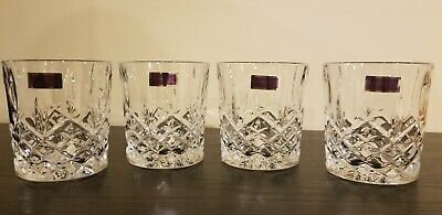 Set of 4 Marquis Waterford Markham Double Old Fashioned Crystal Wiskey Glasses