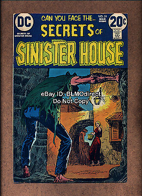 1973 Secrets Of Sinister House #10 FN- First Print DC Comics