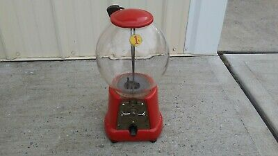 1920's Advance Model D Glass Globe with original lock Gumball Vending Machine
