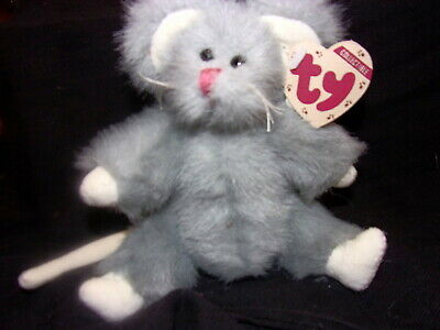 Vintage TY Collectible SQUEAKY The Gray Mouse Stlye 6017 RETIRED New with  Tag. c61c313a1071