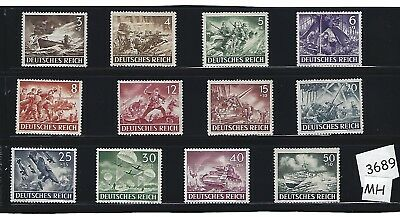 MH stamp complete set / Nazi Germany Military Armed forces /  1943 Third Reich