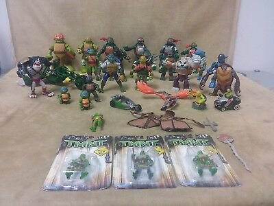 Teenage Mutant Ninja Turtles Action Figures Toys Mixed Lot Different Years Kinds