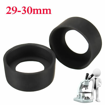 2PCS 29-30mm Microscope Eyepiece Eye Shield Rubber Eye Guards Binocular Eye Cups