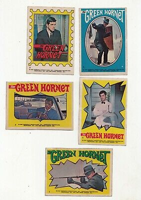 1966 Topps Green Hornet Stickers Lot of 10 Different-Vg/Ex Condition-LOOK*