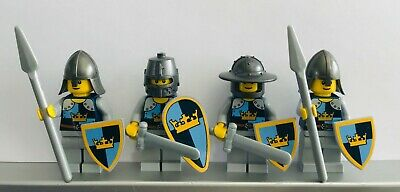 Lego CASTLE CRUSADER CROWN MEDIUM BLUE KNIGHTS Minifigs NEW Made from Stickers