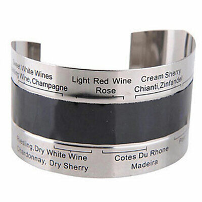Stainless Steel Wine Bracelet Thermometer (4--24'C) Red Wine Temperature Sensor