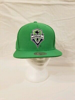 official photos 5b2ce b8018 Mitchell   Ness Seattle Sounders FC BRAND Snapback cap hat MLS SSFC Basic