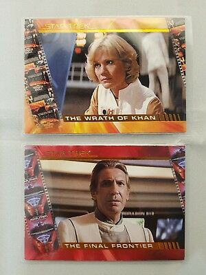 Star Trek Complete Movies Profiles Cards X2, P4 & P10, Odds 1:12