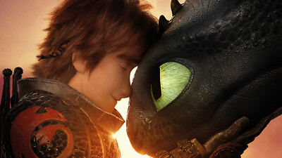 How to Train Your Dragon Toothless Hiccup 24 X 14 inch Silk Poster Wallpaper