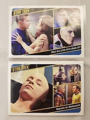 Star Trek  TOS CAPTAINS COLLECTION PARALLEL BASE CARDS #77,#10 ODDS 1:12