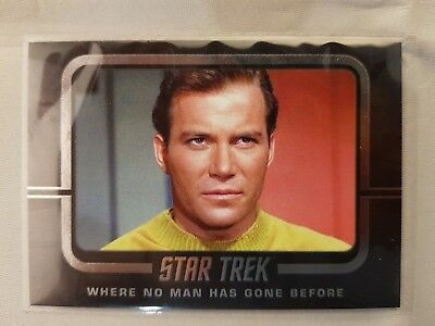 Star Trek  TOS CAPTAINS COLLECTION  WHERE NO MAN HAS GONE BEFORE W7  ODDS 1:8