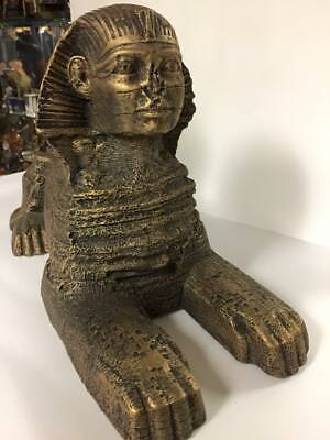 Vintage Unique Hand Made Large  Egyptian SPHINX Statue Made In Egypt