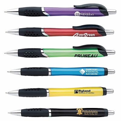 300 Personalized Storm Click Pen Printed with Your Logo / Info / Message / Name