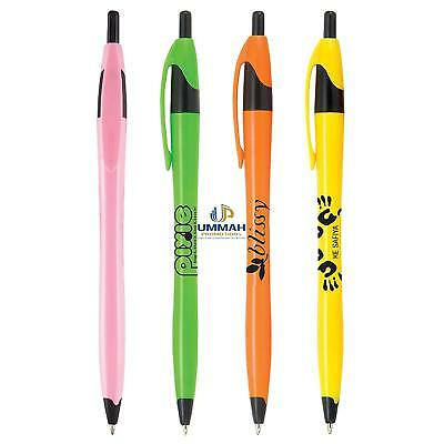 250 Promotional Classic Bright Click Pen Printed with your Logo / Name / Text