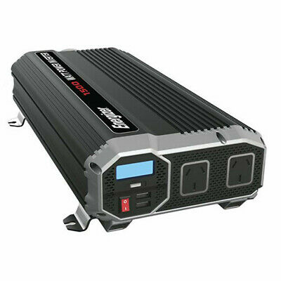 1500W W/ 2 USB TechBrands Energizer 12V-230V Modified SW Inverter