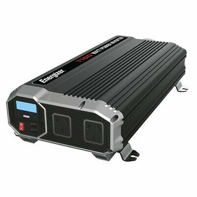 1100W W/ 2 USB TechBrands Energizer 12V-230V Modified SW Inverter