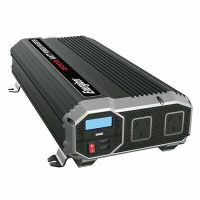 2000W W/ 2 USB TechBrands Energizer 12V-230V Modified SW Inverter