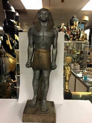 Vintage Unique Large Egyptian King Ramsis II Statue Made In Egypt