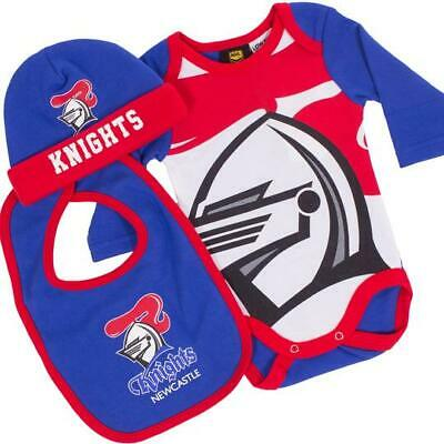 NRL Three Piece Baby Bodysuit - Newcastle Knights - Rugby League - BNWT