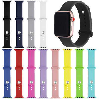 Replacement Watch Silicone Band Strap For Apple Watch Series 4/3/2/1 38/40/42/44