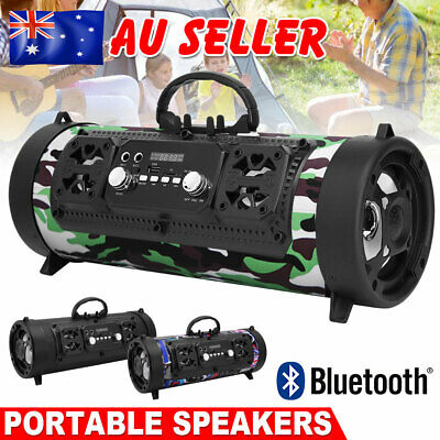 Portable Wireless Bluetooth Speaker Stereo Bass USB/TF/ Radio Outdoor Subwoofer