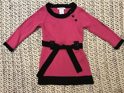 06ddb312e61aee LILLY WICKET GIRL'S Sweater Dress Pink Black Belt Sequins Size 2T ...