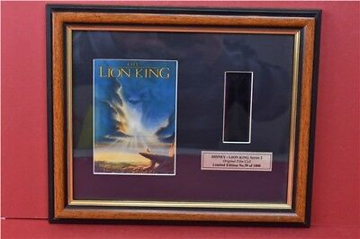 The In Thing Lion King Series 2 Framed Film Cell No.39 Out Of 1000 & Certificate